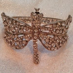 Diamante Dragonfly Clasp Vintagae Bracelet